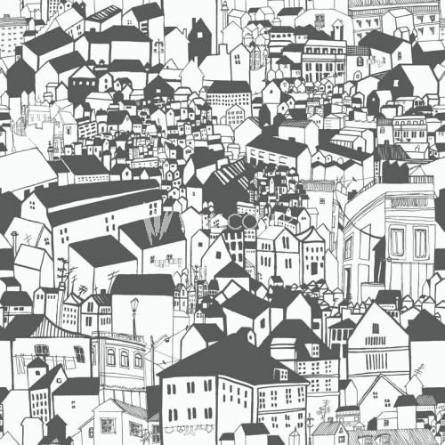 6091 Eco Black & White Borås Tapeter